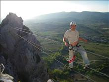 Via Ferrata and Trolley in the Guamsky Gorge